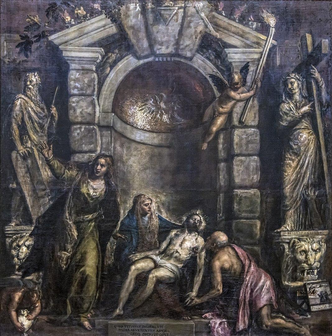 La pietà, Tiziano, Gallerie dell'Accademia